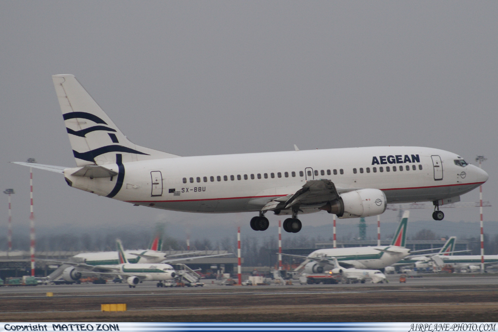 Photo Aegean Airlines Boeing 737-33A