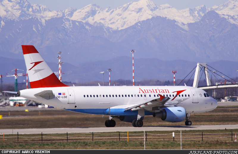 Photo Austrian Airlines Airbus A319-112