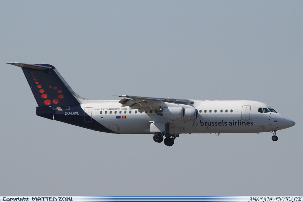 Photo Brussels Airlines British Aerospace Avro 146-RJ100