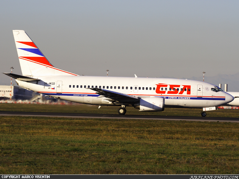 Photo CSA - Czech Airlines Boeing 737-500