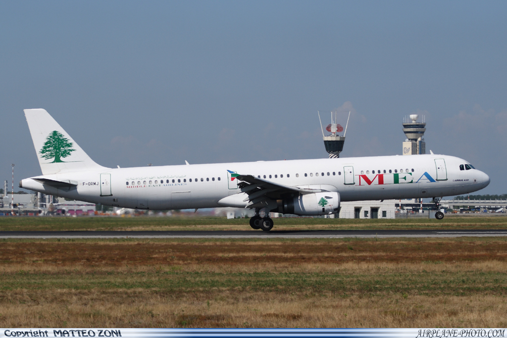 Photo Middle East Airlines (MEA) Airbus A321-231