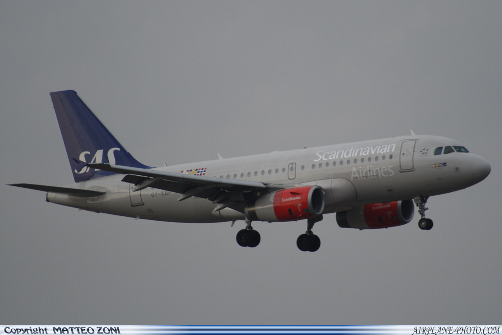 Photo Scandinavian Airlines - SAS Airbus A319-132