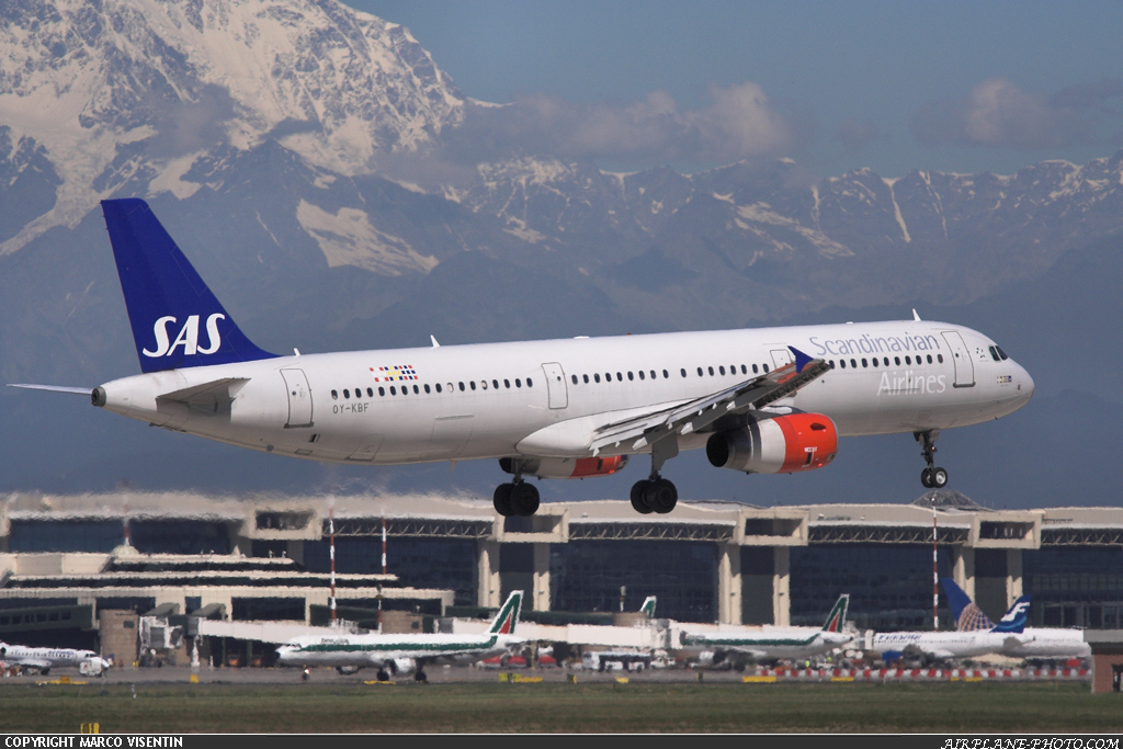 Photo Scandinavian Airlines - SAS Airbus A321-232