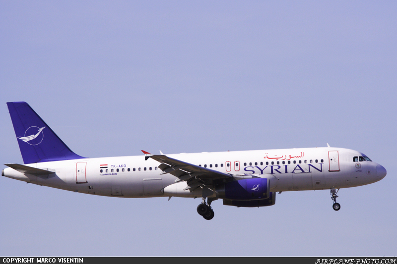 Photo Syrian Air Airbus A320-232