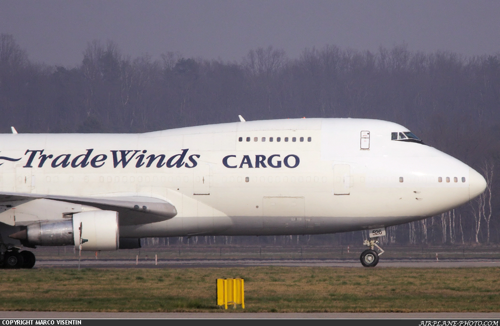 Photo Tradewinds Airlines Boeing 747-212B(SF)