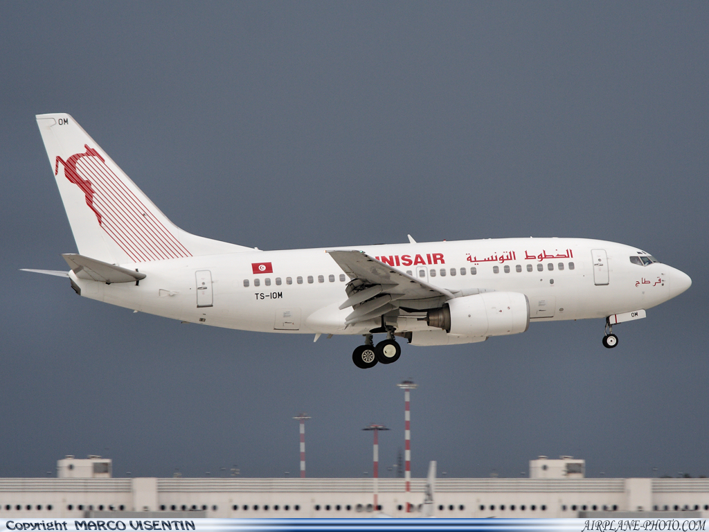 Photo Tunisair Boeing 737-6H3