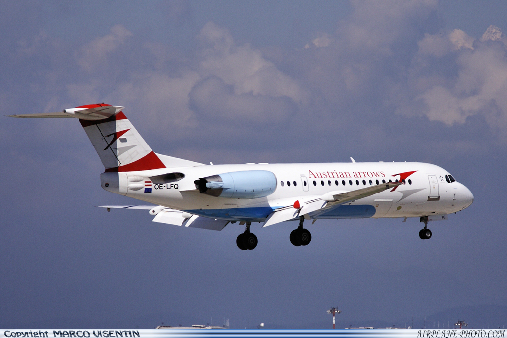 Airliners Net Photos Photo Austrian Airlines Fokker