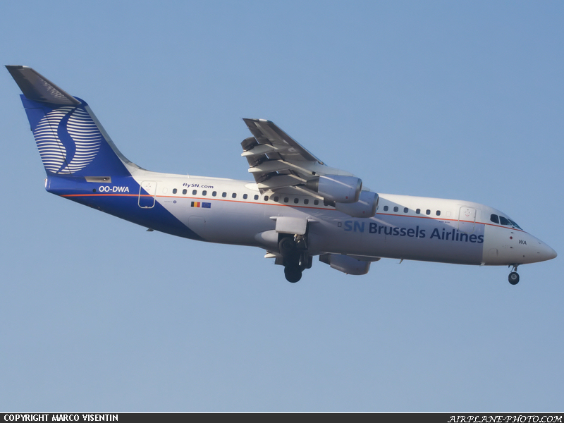 Photo SN Brussels Airlines BAE Systems Avro 146-RJ100