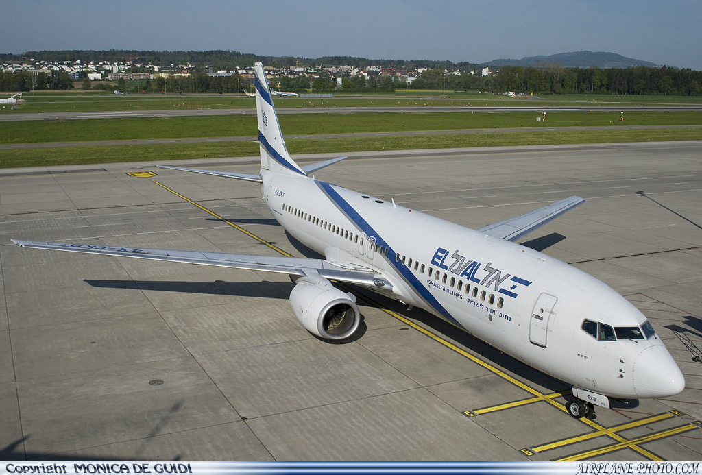 Photo El Al Israel Airlines Boeing 737-858