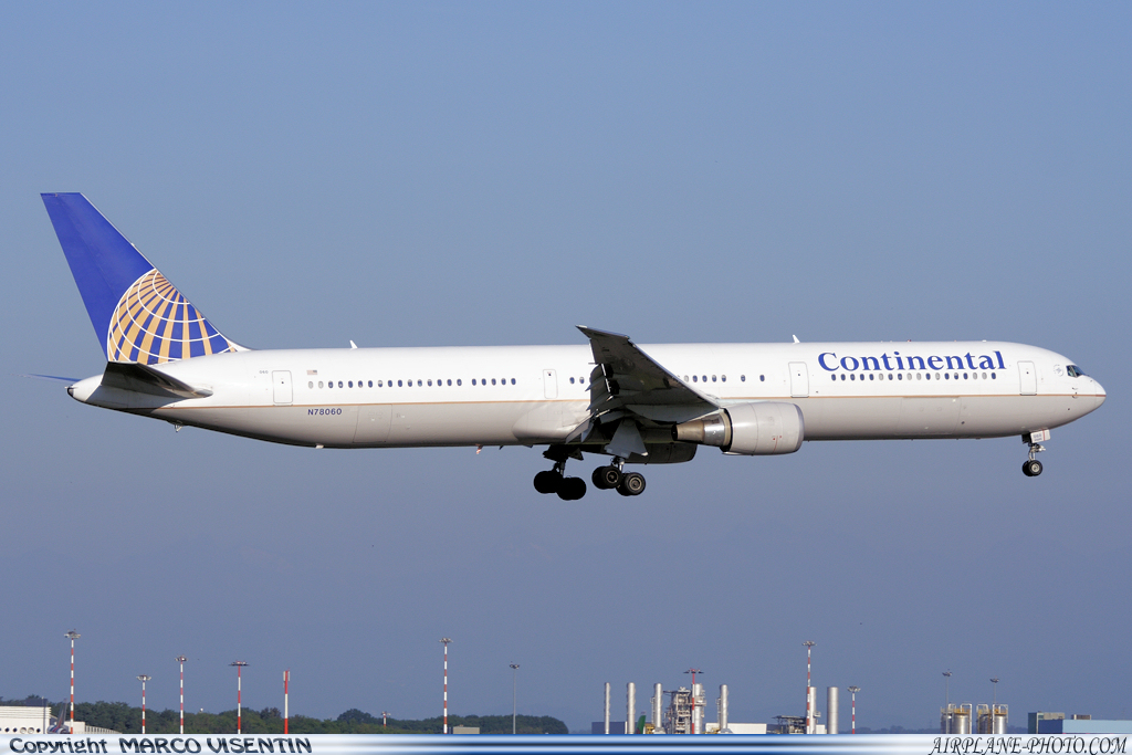 Photo Continental Airlines Boeing 767-424/ER
